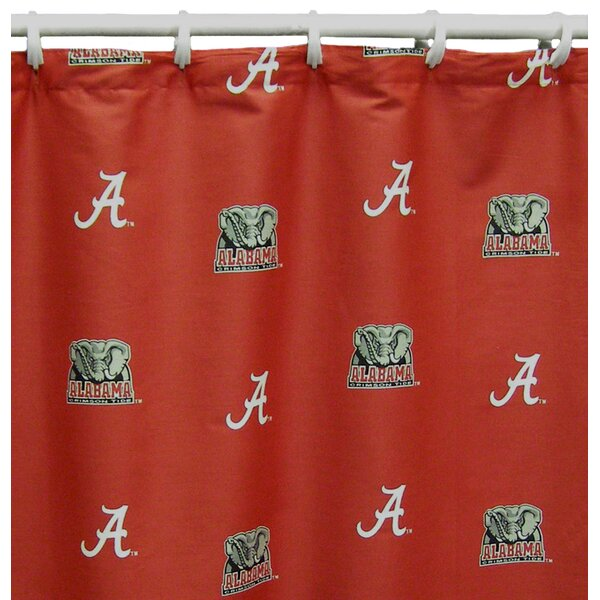 NCAA Alabama Cotton Printed Shower Curtain by College Covers