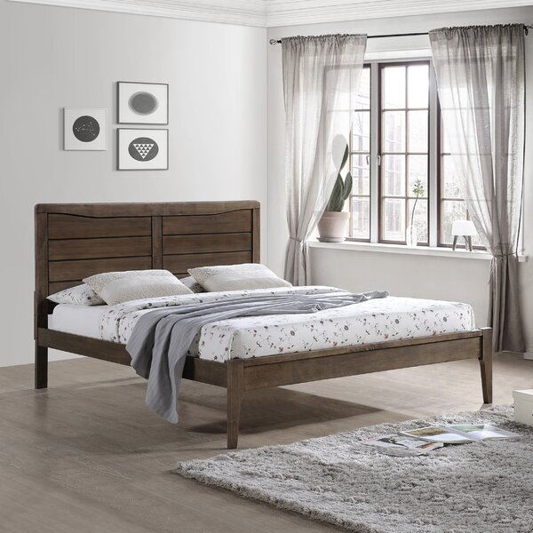 Fournier Wooden Queen Platform Bed by Union Rustic