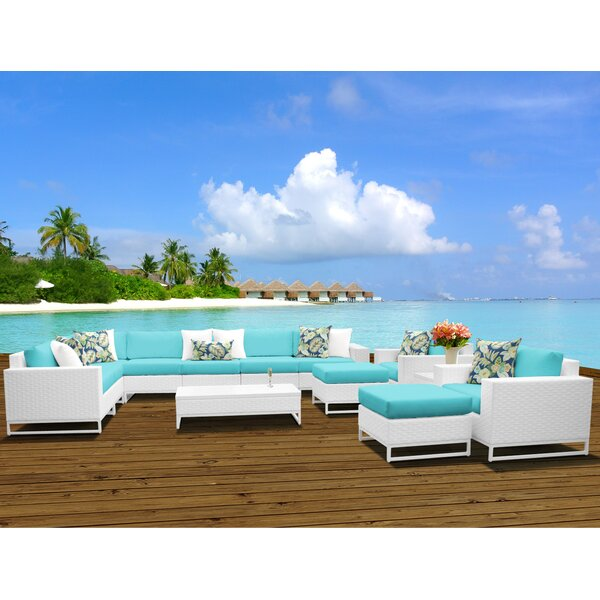 Miami 13 Piece Sectional Seating Group with Cushions by TK Classics