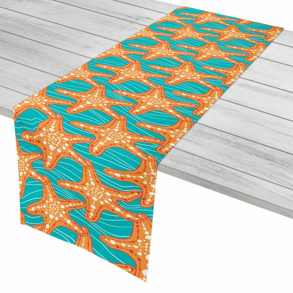 Coastal Starfish in Waves Table Runner by Island Girl Home