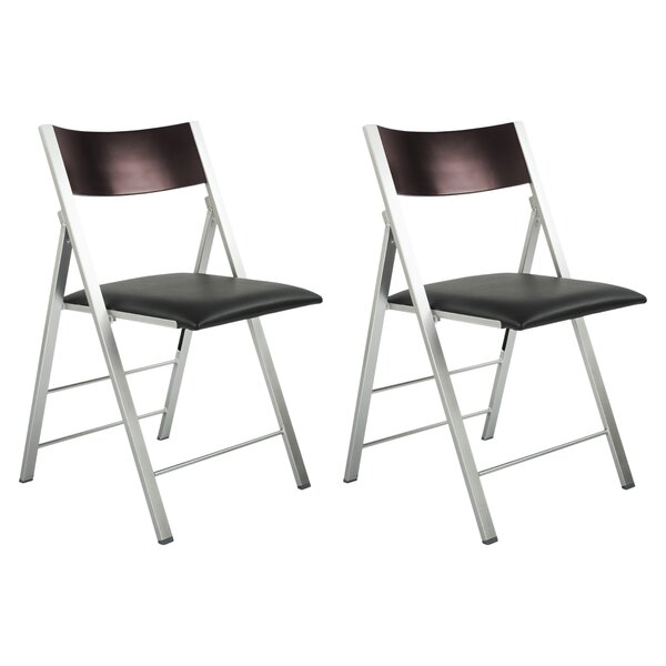 Comfort and Style Modern Metal Folding Chair (Set of 2) by CORNER HOUSEWARES