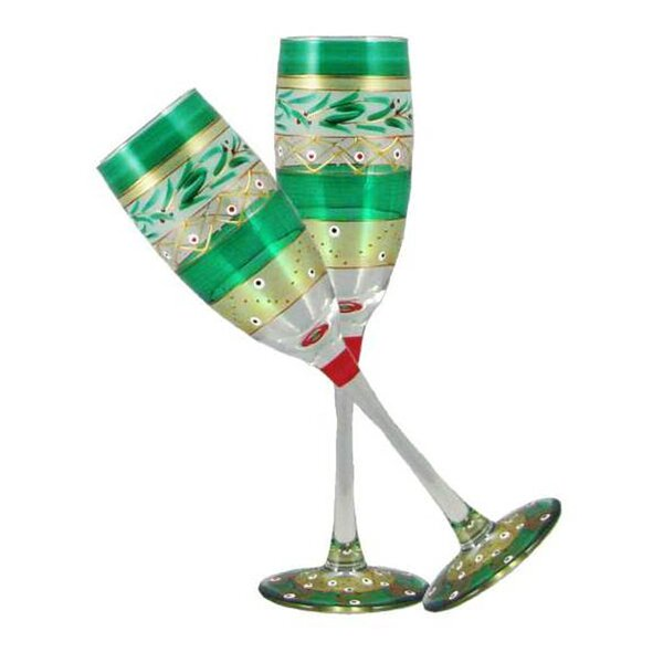 Christmas Garland Cordial Glass (Set of 2) by Golden Hill Studio