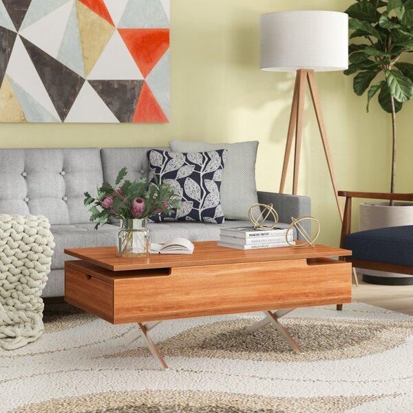 Denson Melamine Veneer Wood Hidden Storage Lift Top Coffee Table by Wrought Studio Wrought Studio