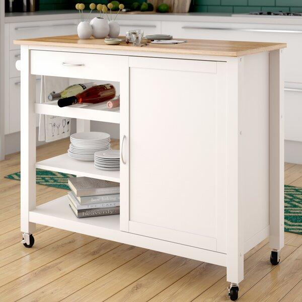 Monongah Wood Kitchen Cart by Latitude Run