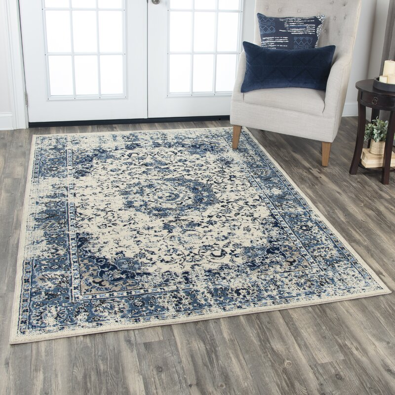 Williston Forge Everything Old Is New Again Blue Beige Area Rug Wayfair