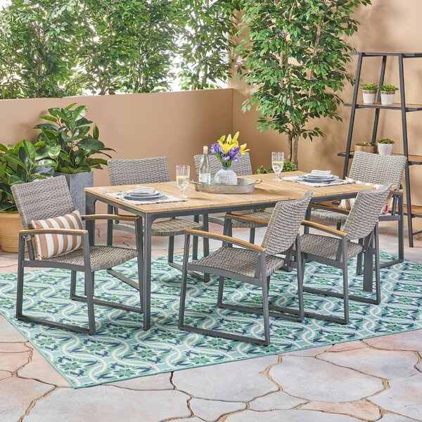 Mabie 7 Piece Dining Set by Williston Forge
