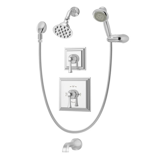 Canterbury Pressure Balance Tub and Shower System with Lever Handle by Symmons