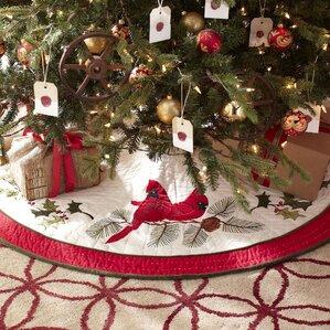 Cardinal Noel Tree Skirt