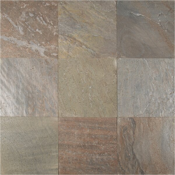16 x 16 Natural Stone Field Tile in Honed Copper by MSI