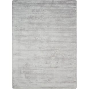 Lunar Hand Woven Luminescent Rib Platinum Area Rug By Calvin Klein Home Collection