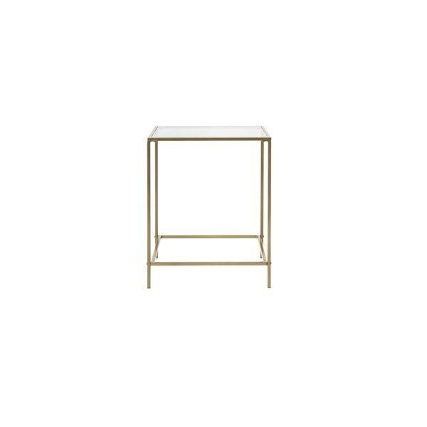 Bouck Glass Top Frame End Table By Ebern Designs