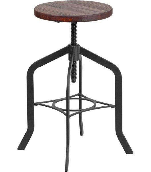 Hatchell Backless Adjustable Height Swivel Bar Stool by Williston Forge