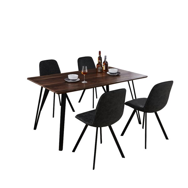 Modern Malmo Design Rectangle Table 5 Piece Solid Wood Dining Set By Williston Forge Herry Up
