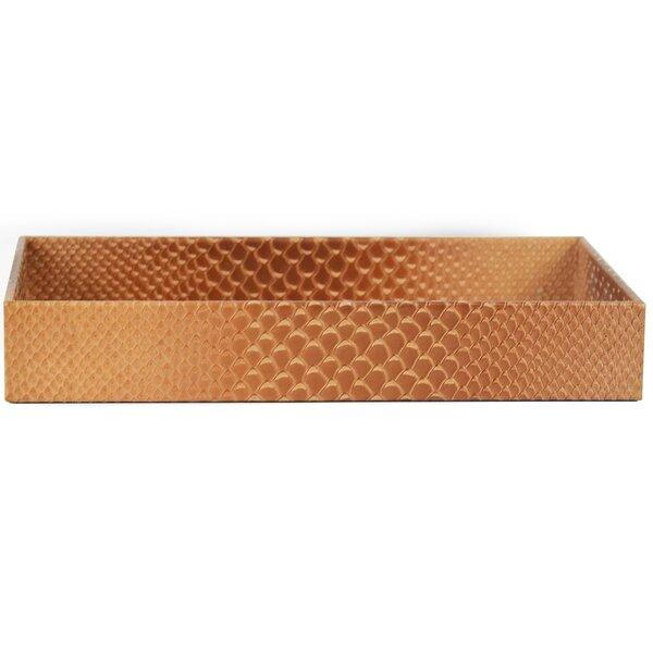 Kelsie Genuine Leather Rectangle Storage Bathroom Accessory Tray by Brayden Studio