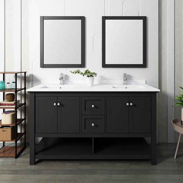 Manchester 60 Double Bathroom Vanity Set with Mirror