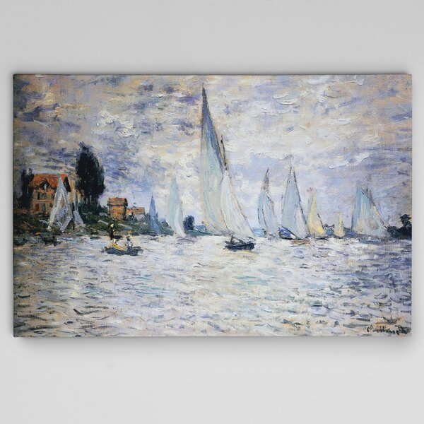 Boats Regatta By Claude Monet Print By Wexford Home.