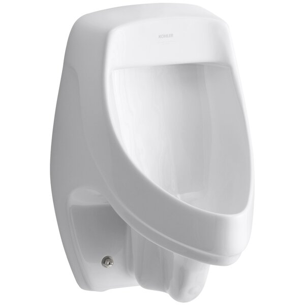 Dexter Siphon-Jet Wall-Mount 1/2 GPF Urinal with Rear Spud by Kohler