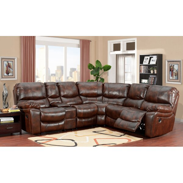 Gracehill Leather Reclining Sectional by Three Posts