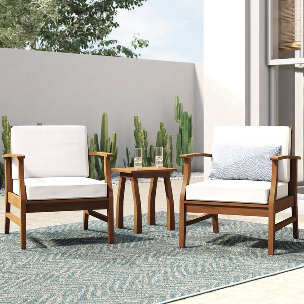 Antonia 3 Piece Seating Group With Cushions By Mistana by Mistana Coupon