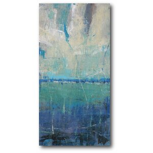 'Blue Horizon a Tranquil See' Print on Canvas by Wrought Studio