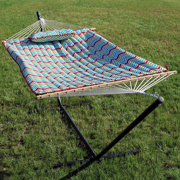 Koeninger Spreader Bar Hammock with Stand by Ebern Designs
