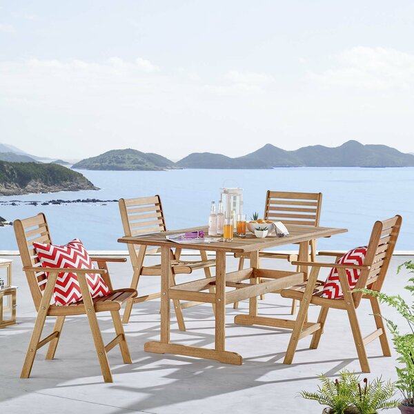 Sharice 5 Pieces Dining Set by Highland Dunes
