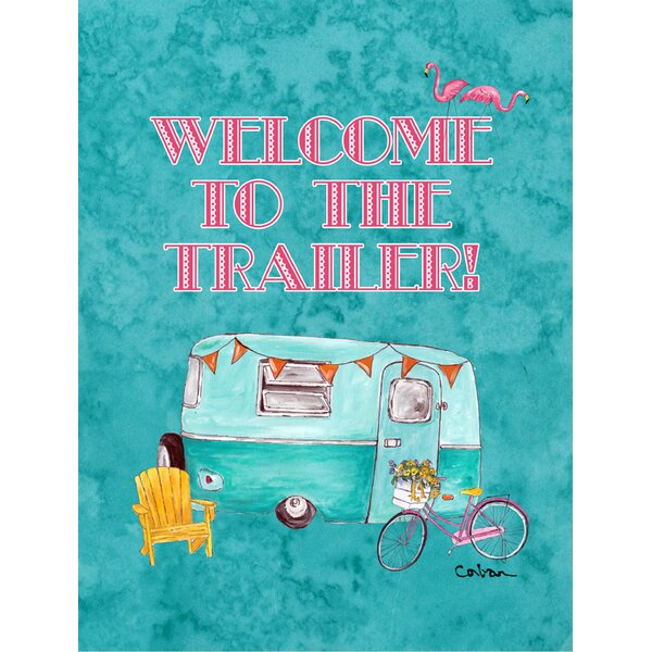 Welcome to The Trailer House Vertical Flag by Caroline's Treasures