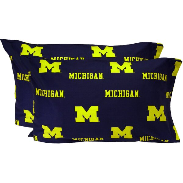 Collegiate NCAA Michigan Wolverines Pillowcase (Set of 2) by College Covers
