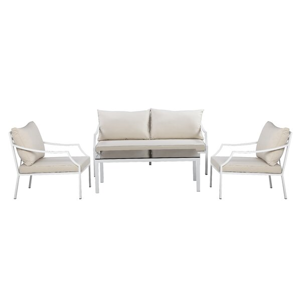Esai 4 Piece Sofa Seating Group with Cushions by Breakwater Bay