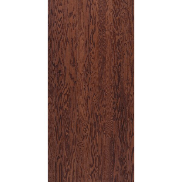 Turlington 3 Engineered Oak Hardwood Flooring in Low Glossy Cherry by Bruce Flooring