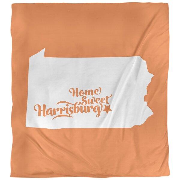 Harrisburg Pennsylvania Single Reversible Duvet Cover