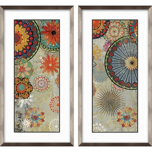 Caravan 2 Piece Framed Graphic Art Set by PTM Images