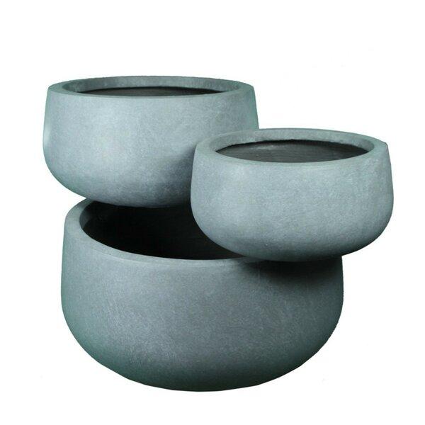 Gullickson Designed 3-Piece Clay Pot Planter Set by Ebern Designs
