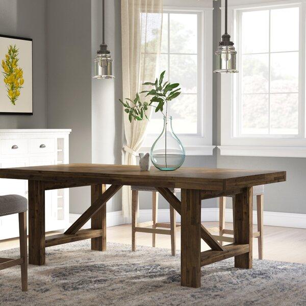 Kara Acacia Solid Wood Dining Table by Laurel Foundry Modern Farmhouse Laurel Foundry Modern Farmhouse
