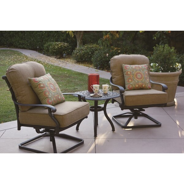 Calhoun 3 Piece Conversation Set with Cushions by Fleur De Lis Living