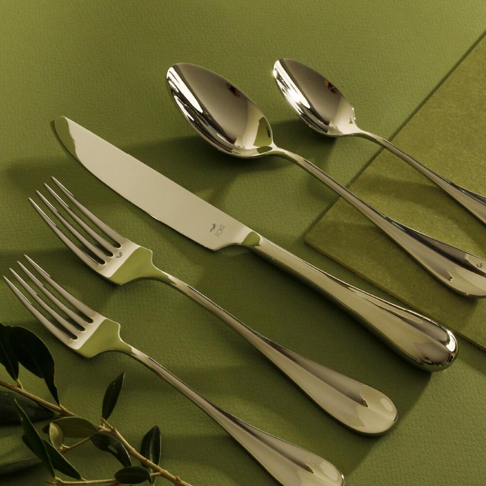 Gourmet Settings Feast 20 Piece 18 10 Stainless Steel Flatware Set Service For 4 Reviews Wayfair