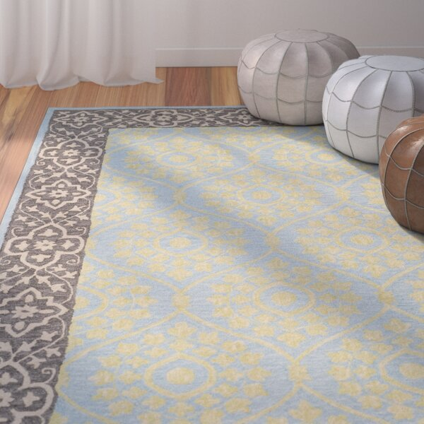 Tomo Hand-Hooked Chocolate Area Rug by Bungalow Rose