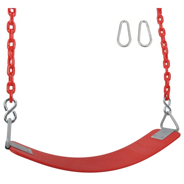 Commercial Seat with Coated Chains and Hooks by Swing Set Stuff