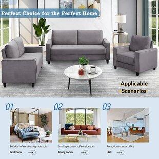 Icely 3 Piece Velvet Configurable Living Room Set by Latitude Run®