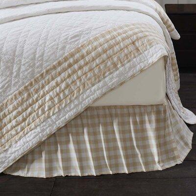 "August Grove Caulder Buffalo Check 16"" Bed Skirt  Color: Butterscotch Tan, Size: Twin"