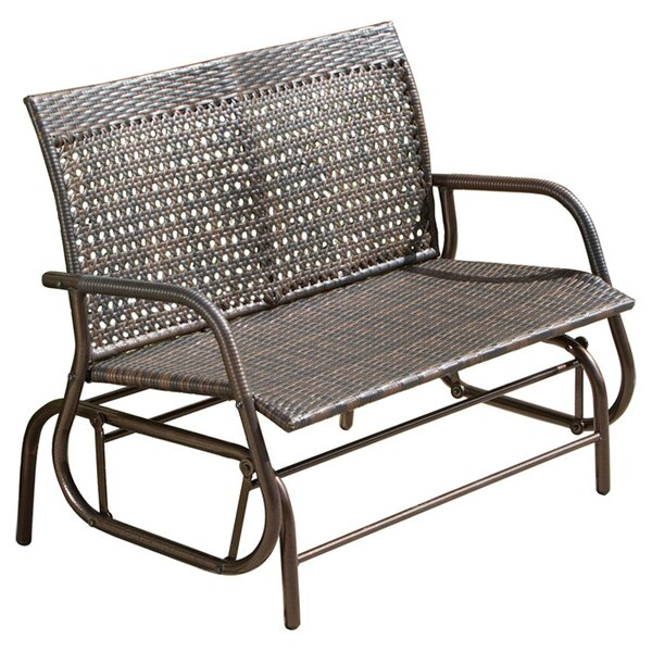 Aniya Outdoor Swinging Bench by Mistana