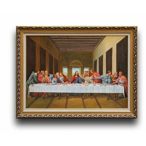 The Last Supper' by Leonardo da Vinci Framed Painting by Greenville Signature