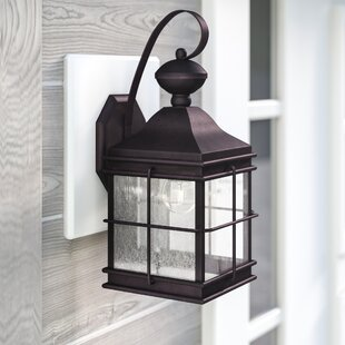 Buy clear Mcmullin 1-Light Outdoor Wall Lantern By Three Posts