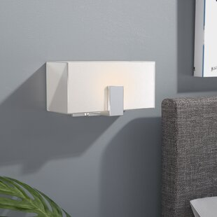 Price comparison Saldivar 1-Light Wall Sconce with Square Shades By Latitude Run