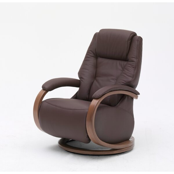 Drinkard Leath Power Swivel Recliner W001525275