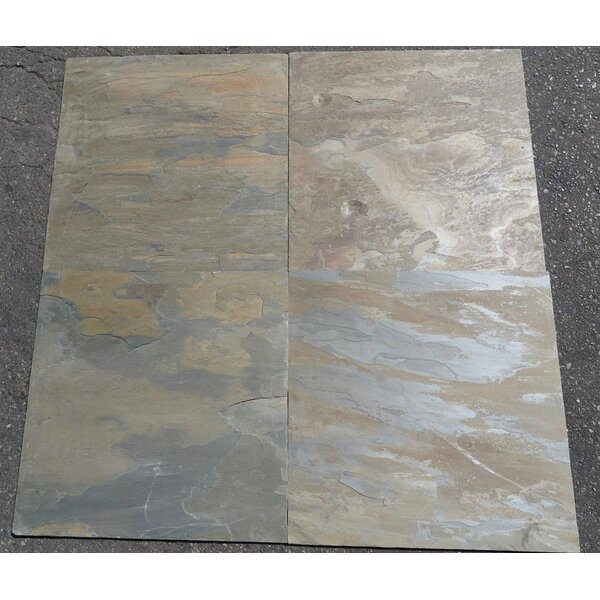California Gold Natural Cleft Face, Gauged Back 24x24 Slate Field Tile