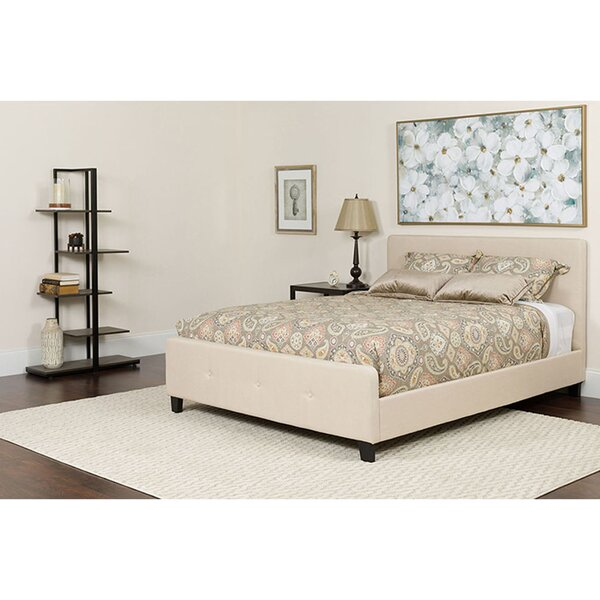 Chopin Twin Upholstered Platform Bed with Mattress by Ebern Designs