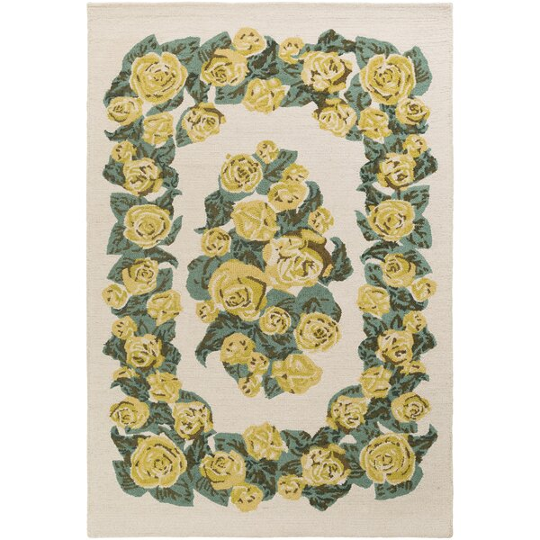 Lackey Handmade Yellow Area Rug by House of Hampton