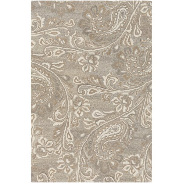 Barnhardt Hand-Tufted Cream/Taupe Area Rug by Charlton Home