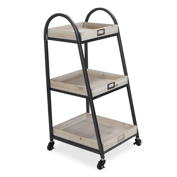Hoekstra Three Tier Metal Bar Cart by Gracie Oaks Gracie Oaks